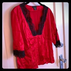 Silk and lace top